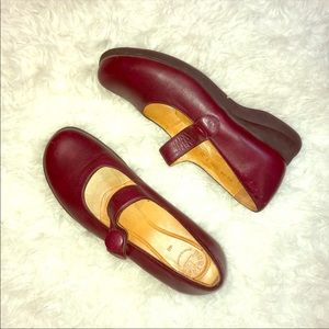 Murtosa Portugal Mary Jane Red leather shoes